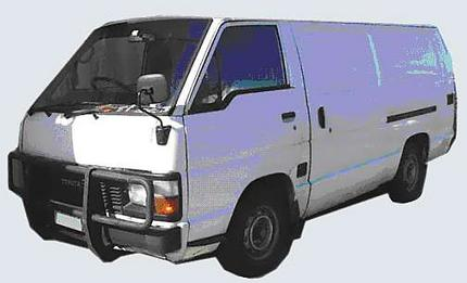 Police are seeking a 1983-84 Toyota Hiace van.